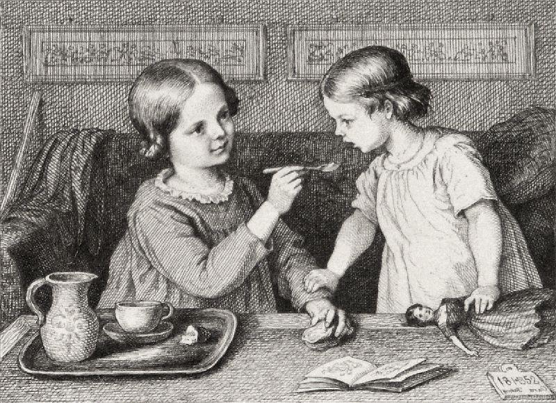 Kinder beim Suppe essen