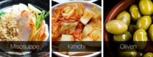 Fermentiertes Gemüse - Miso - Oliven - Kimchi