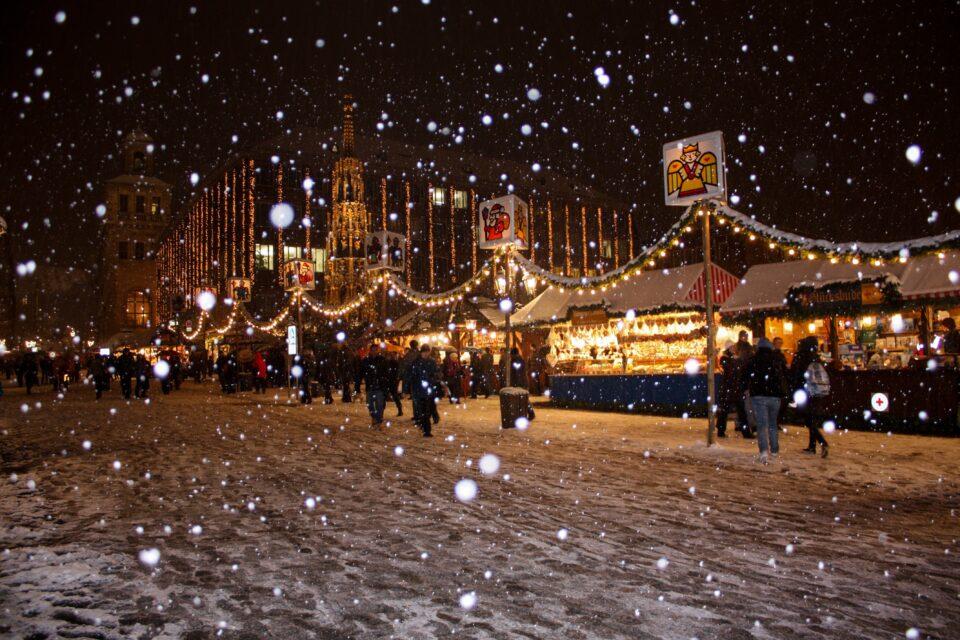 Bild auf dem Weihnachtsmarkt