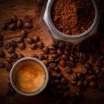 Espresso - Kaffeebohnen - Kaffeepulver