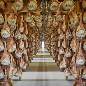 Lagerhalle von Prosciutto di San Daniele - Salone di stagionatura